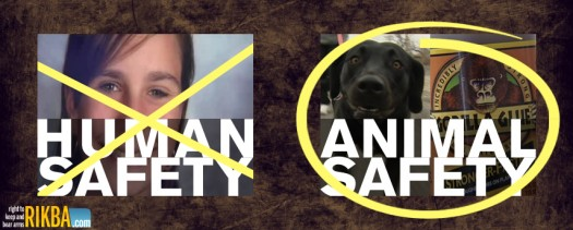 Human Safety or Animal Safety - Which one is more important?  Gun control advocates in the media want you to believe that guns are dangerous, and that nothing can prevent that.